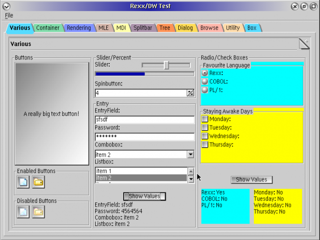 Dynamic Windows & RexxDW | eCSoft/2