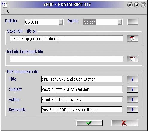 Postscript to pdf converter download.