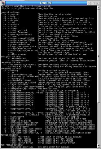 FLAC (Free Lossless Audio Codec) | eCSoft/2