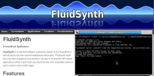 FluidSynth   eCSoft/2