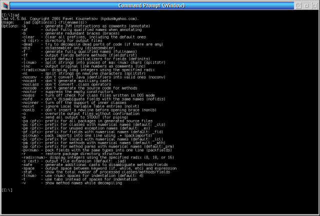 Jad - the fast Java Decompiler | eCSoft/2