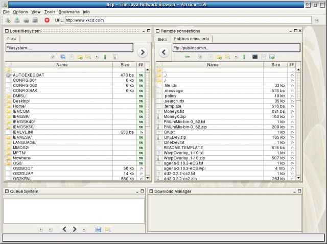 JFtp - The Java Network Browser | eCSoft/2