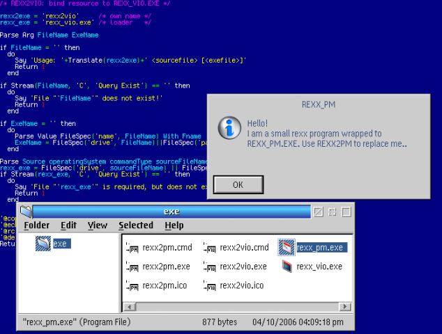 Rexx_EXE (REXX to OS/2 executable wrapper) | eCSoft/2