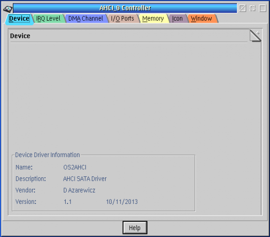 SATA AHCI Disk Controller | eCSoft/2